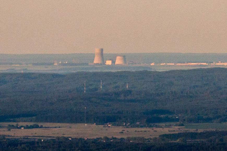 Astravo atominė elektrinė matoma iš oro baliono