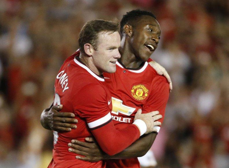 Wayne'as Rooney ir Danny Welbeckas