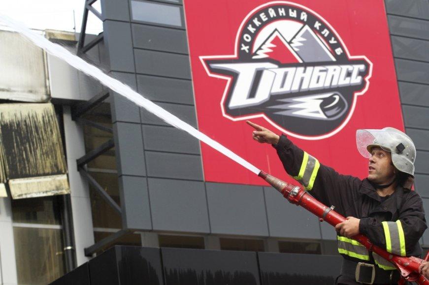 Donecke separatsitai padegė ledo areną