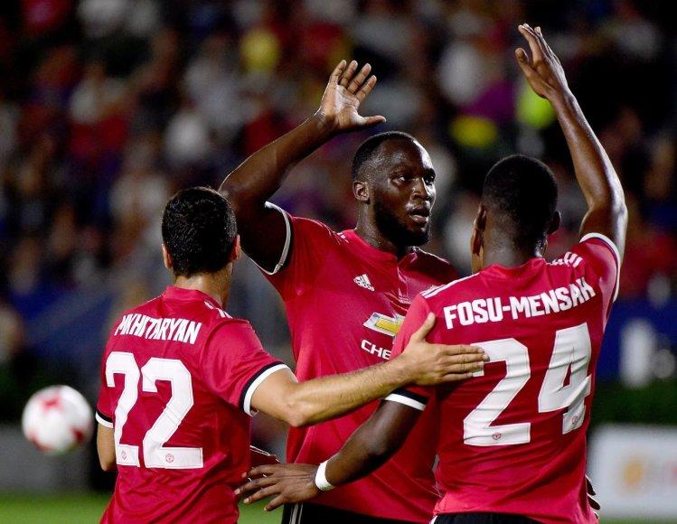 """Romelu Lukaku debiutas """"Manchester United"""" klube"""