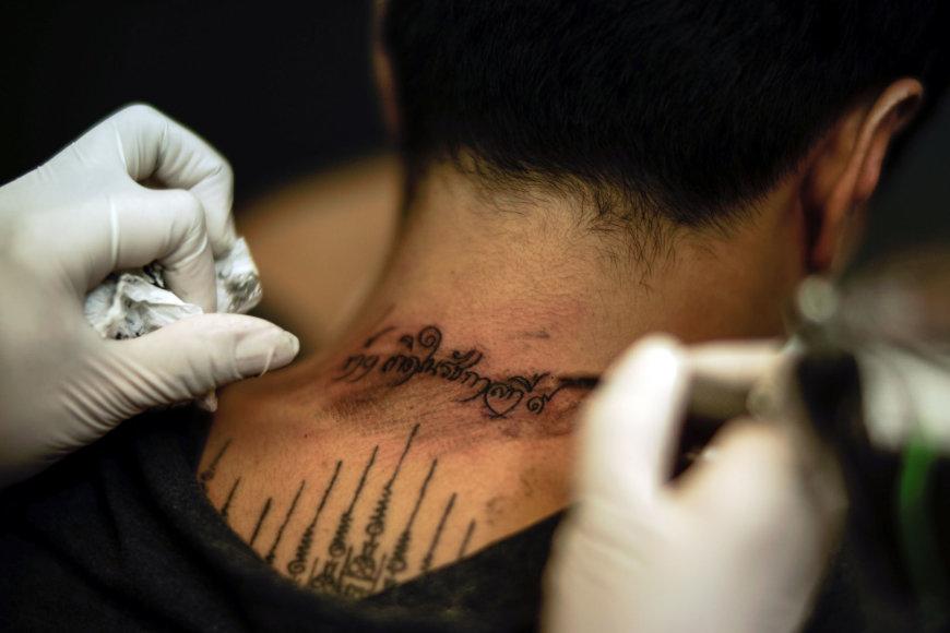 Tailande daroma tatuiruotė