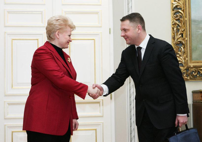 Dalia Grybauskaitė ir Eligijus Masiulis