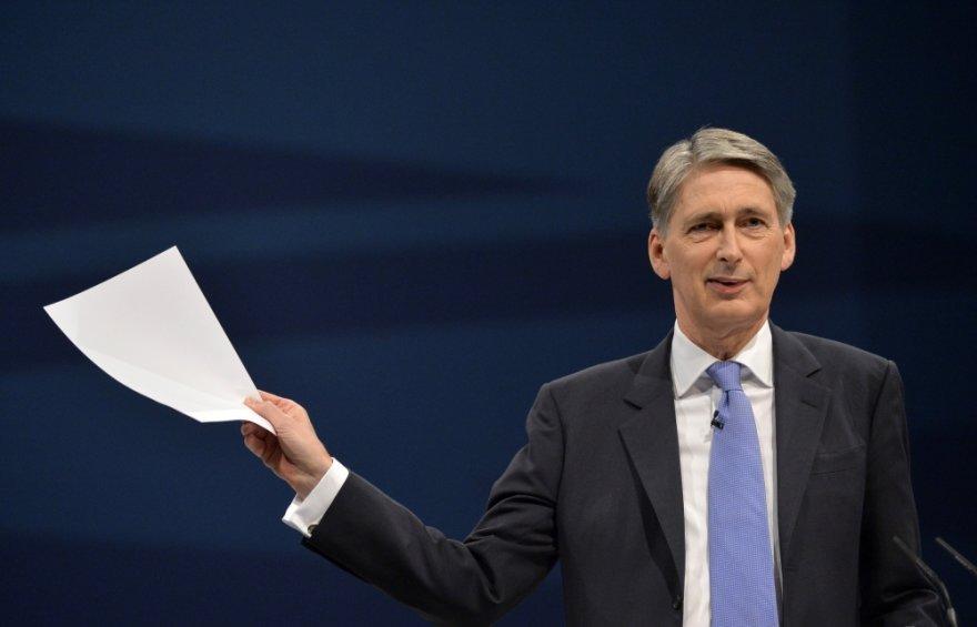 Jungtinės Karalystės gynybos sekretorius Phillipas Hammondas