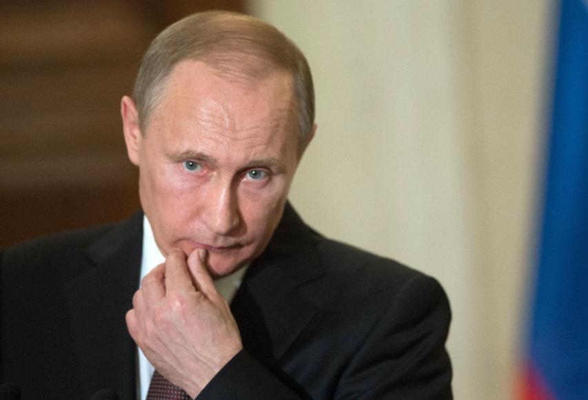 """""""Scanpix"""" nuotr./Vladimiras Putinas Graikijoje"""