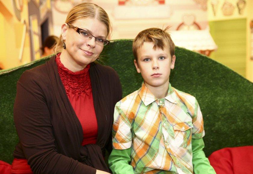 Loreta Sungailienė su sūnum Vilium