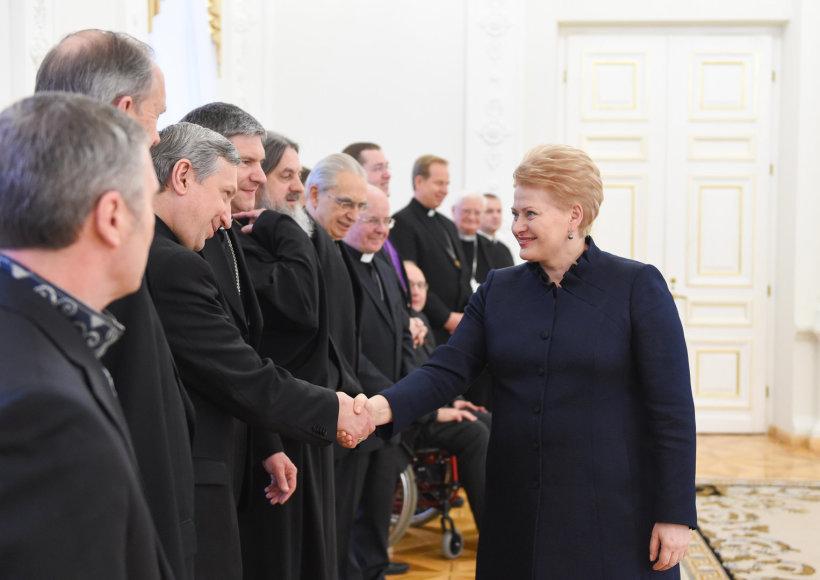 Prezidentė Dalia Grybauskaitė susitiko su šalies dvasininkais