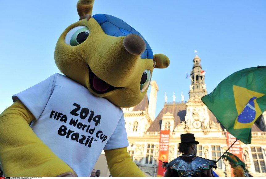 Pasaulio futbolo čempionato Brazilijoje talismanas – šarvuotis Fuleco