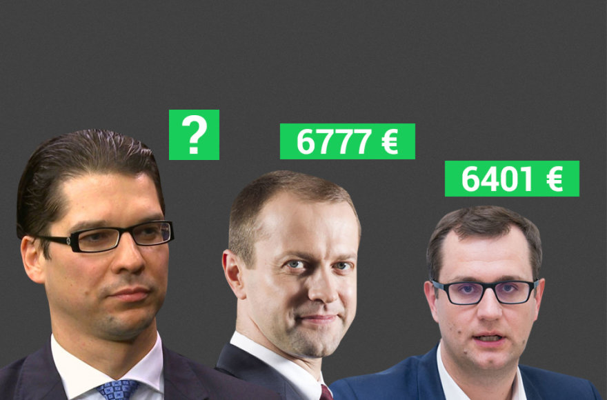 Daivio Virbicko, Daliaus Misiūno ir Manto Bartuškos atlyginimai