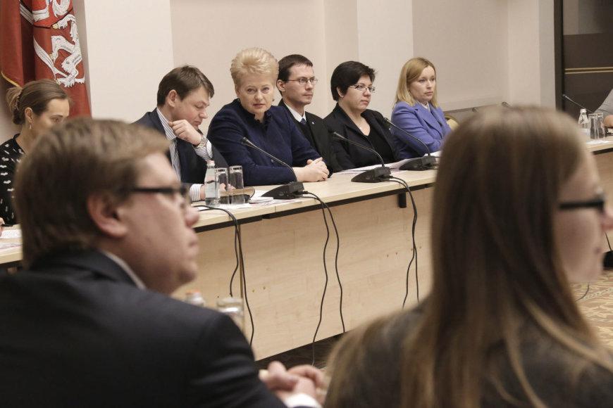 Prezidentė Dalia Grybauskaitė susitiko su investuotojais
