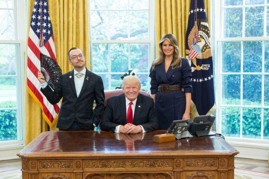 Nikas Džianopulas su D.Trumpu ir M.Trump