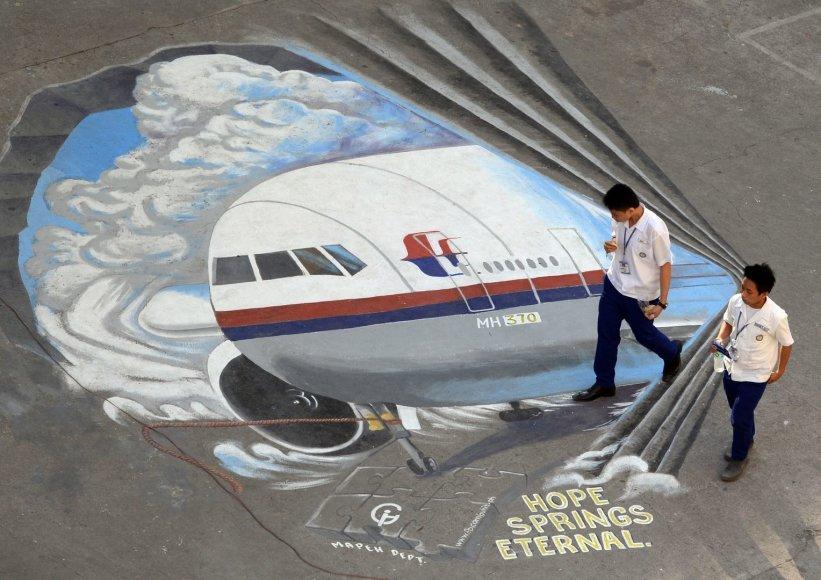 """Dingusio """"Malaysia Airlines"""" lėktuvo trimatis piešinys"""