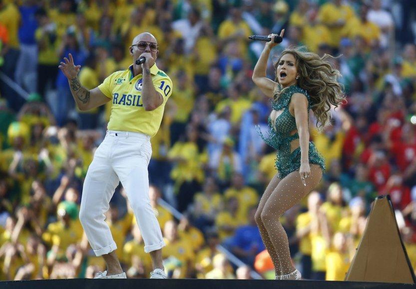 Pitbull ir Jennifer Lopez pasirodymas 2014-ųjų pasaulio futbolo čempionato atidarymo ceremonijoje
