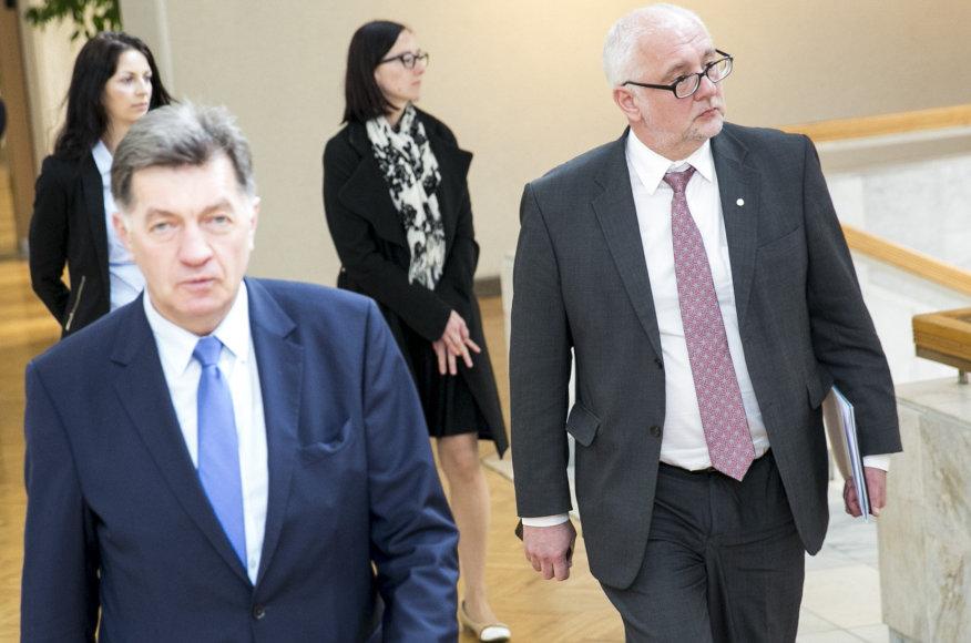 Algirdas Butkevičius ir Dainius Pavalkis