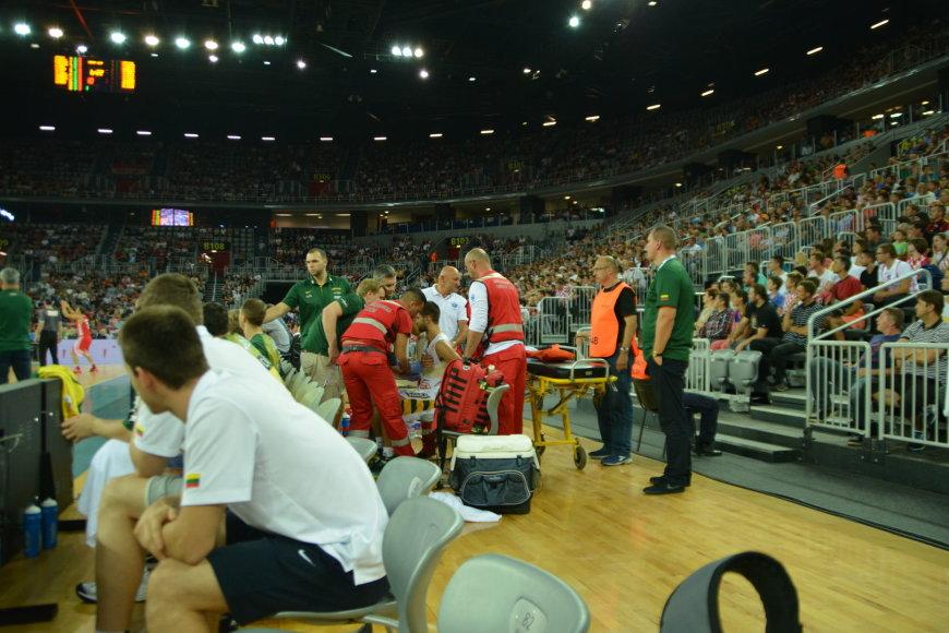 Lietuvos krepšinio rinktinė mače su Kroatija