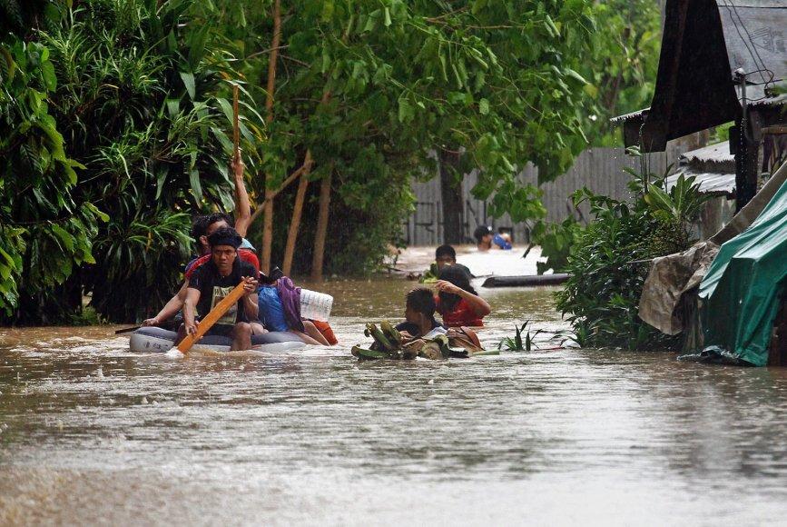 Potvynis po atogrąžų audros Filipinuose