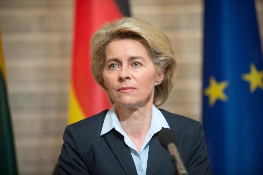 Į Lietuvą atvyko Vokietijos gynybos ministrė dr. Ursula von der Leyen