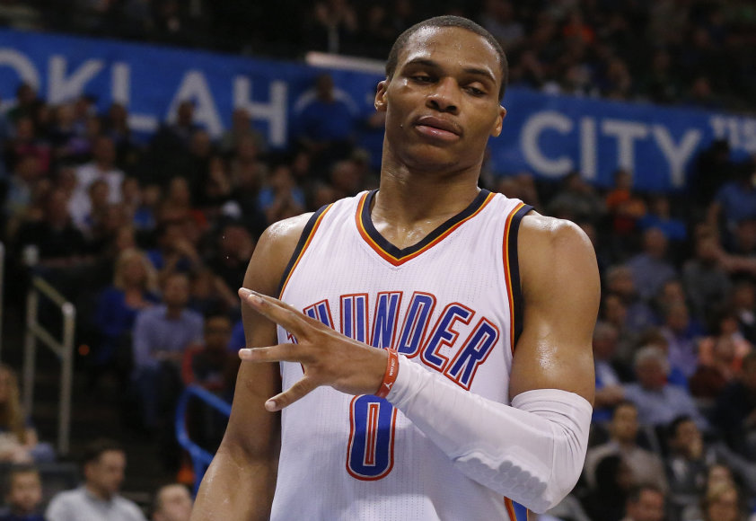 """Vienintelis už simuliaciją šį sezoną įspėtas """"Visų žvaigždžių"""" dalyvis – Russellas Westbrookas"""