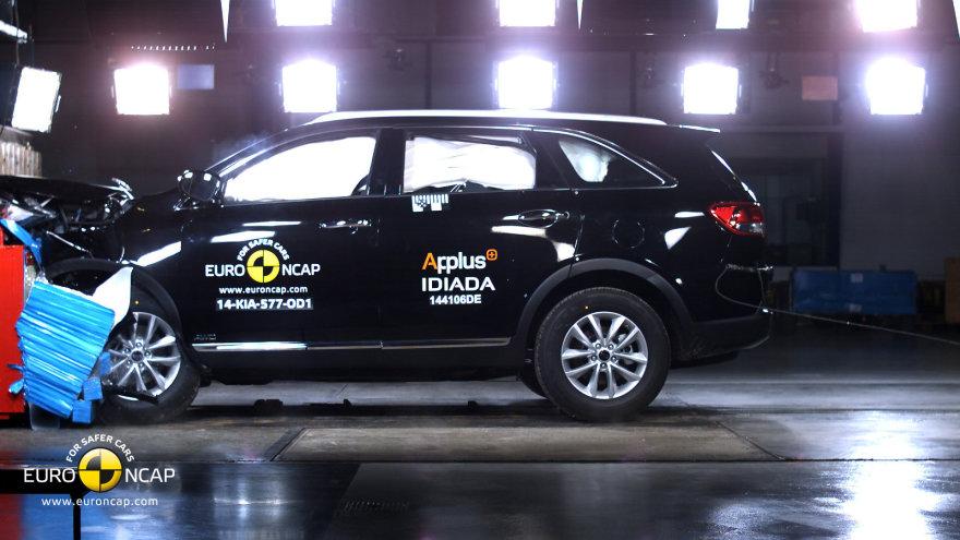 """""""KIA Sorento"""" """"Euro NCAP"""" bandymuose"""