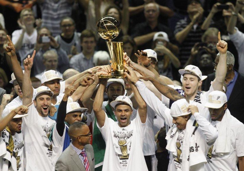 """""""Spurs"""" ekipos triumpfas šių metų NBA sezone"""