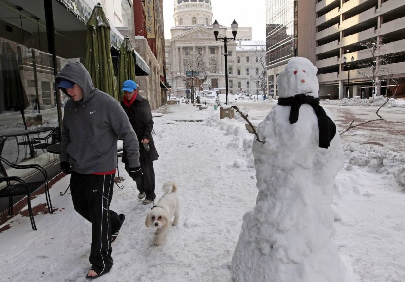 Sniego senis Indianapolyje