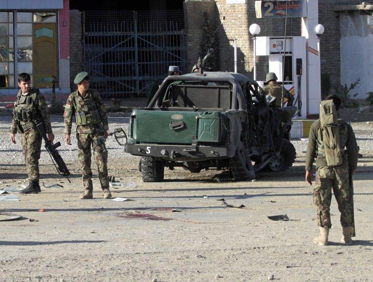 Bombos sprogimo padariniai Afganistane