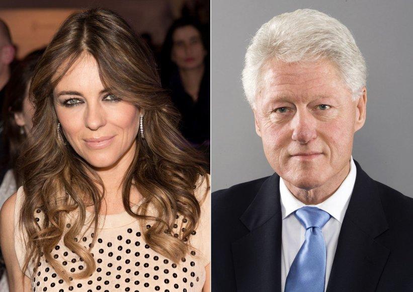 Elizabeth Hurley ir Billas Clintonas