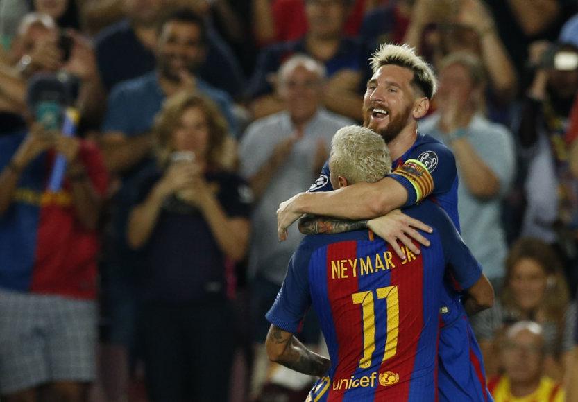 Lionelis Messi įmušė tris įvarčius, Neymaras atliko 4 rez. perdavimus