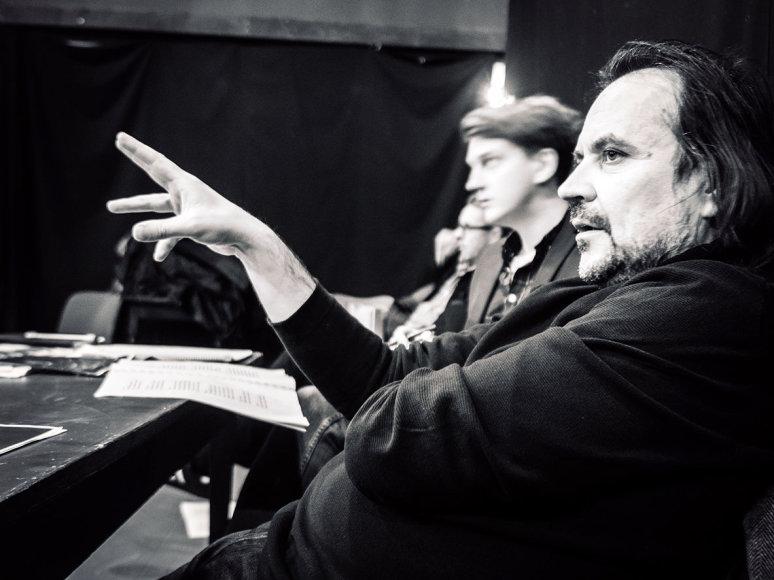 "Tomo Ivanausko nuotr./Oskaro Koršunovo komedijos ""Tartiufas"" repeticija"