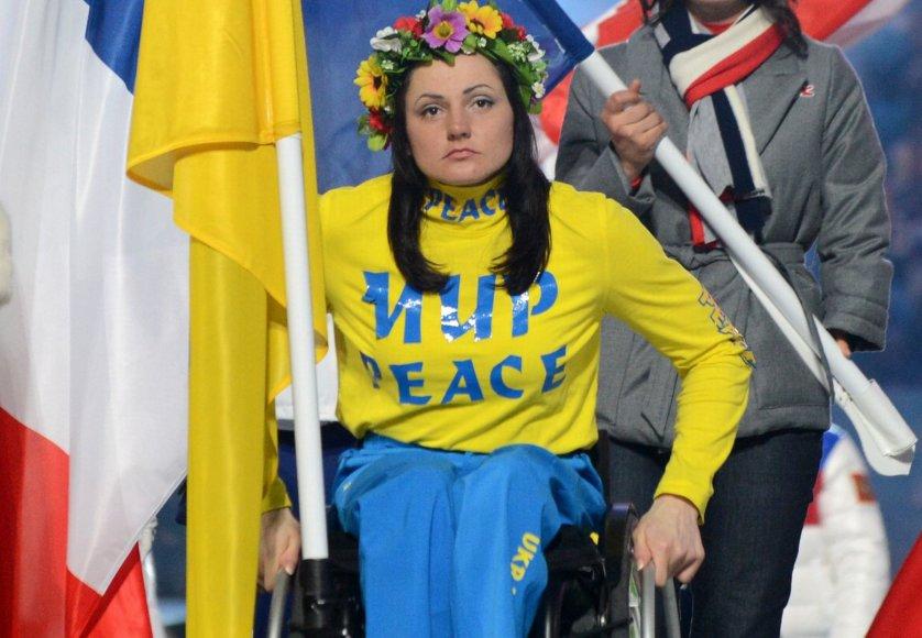 Liudmila Pavlenko per Sočio parolimpinių žaidynių uždarymą
