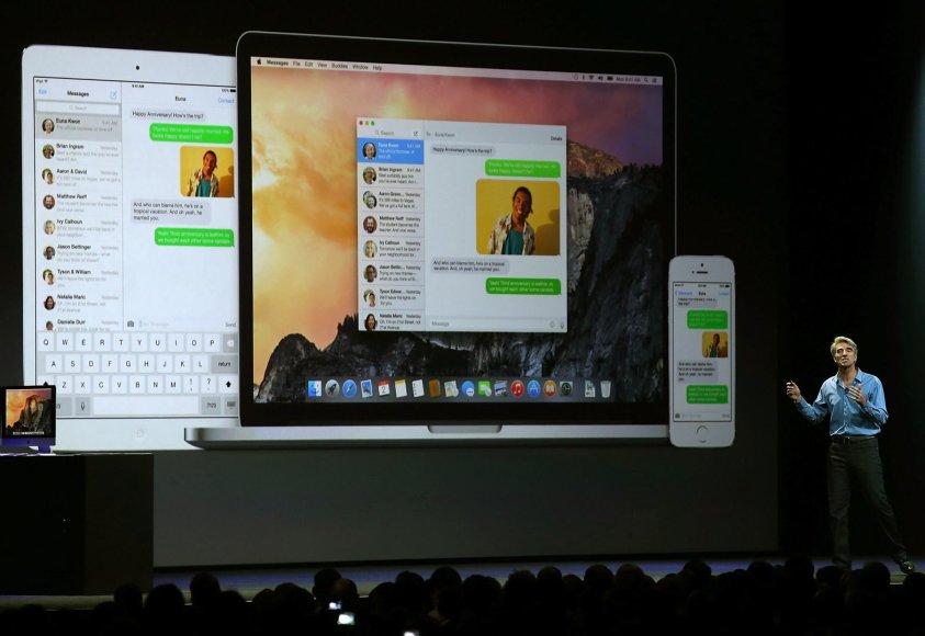 Operacinės sistemos iOS 8 pristatymas
