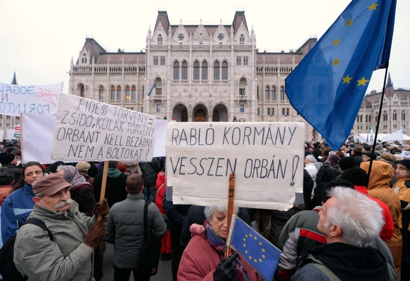 Protestas Vengrijoje