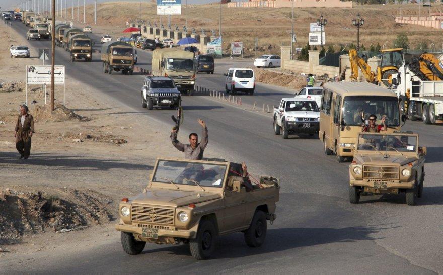 Pešmergai išvyksta iš Irako oro pajėgų bazės