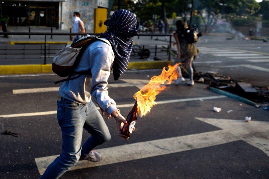 Protestuotojas Venesueloje
