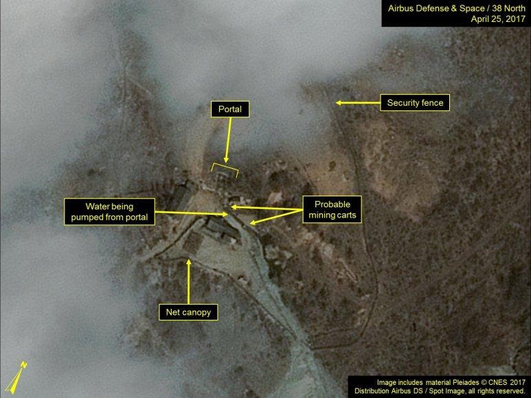 Šiaurės Korėjos branduolinių bandymų poligone pastebėtas aktyvumas