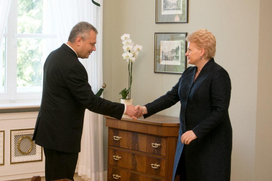 Dalia Grybauskaitė ir Vigilijus Jukna