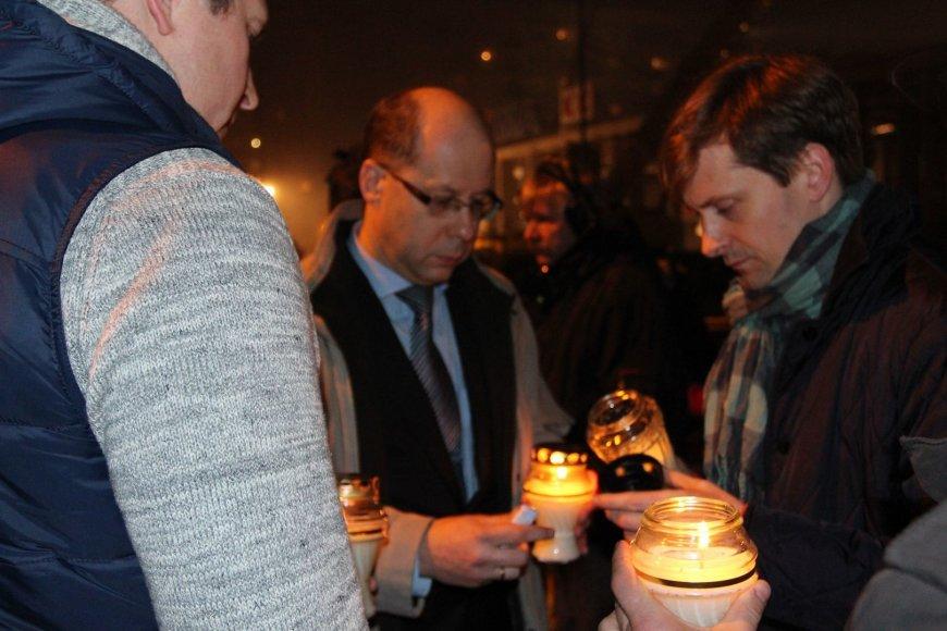 Gintaras Jasinskas tragedijos vietoje Rygoje