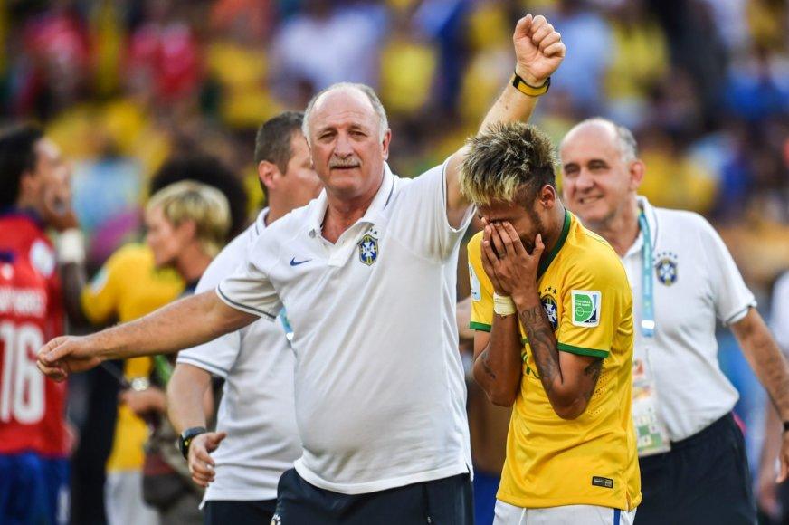 Luizas Felipe Scolari ir Neymaras