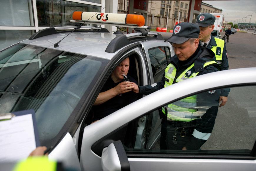 Policijos reido akimirka
