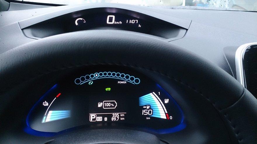 Atšilus orams, 100 procentų įkrauti akumuliatoriai optimistiškai žada nuvažiuoti 150 kilometrų atstumą. Galbūt tai ir įmanoma, bet realiai galima tikėtis galimybės įveikti maždaug 100 kilometrų nuotolį