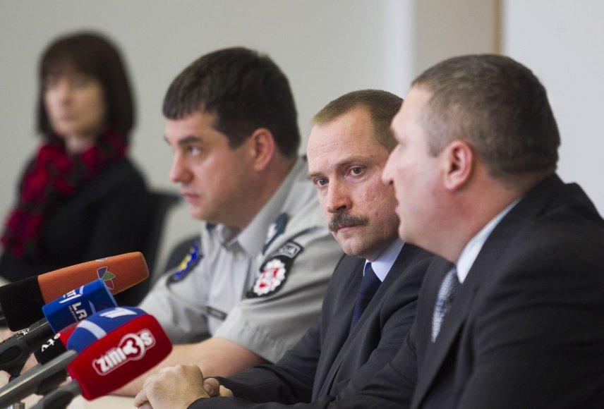 """Lietuvos policijos antiteroristinių operacijų rinktinės """"Aras"""" vadas Viktoras Grabauskas"""