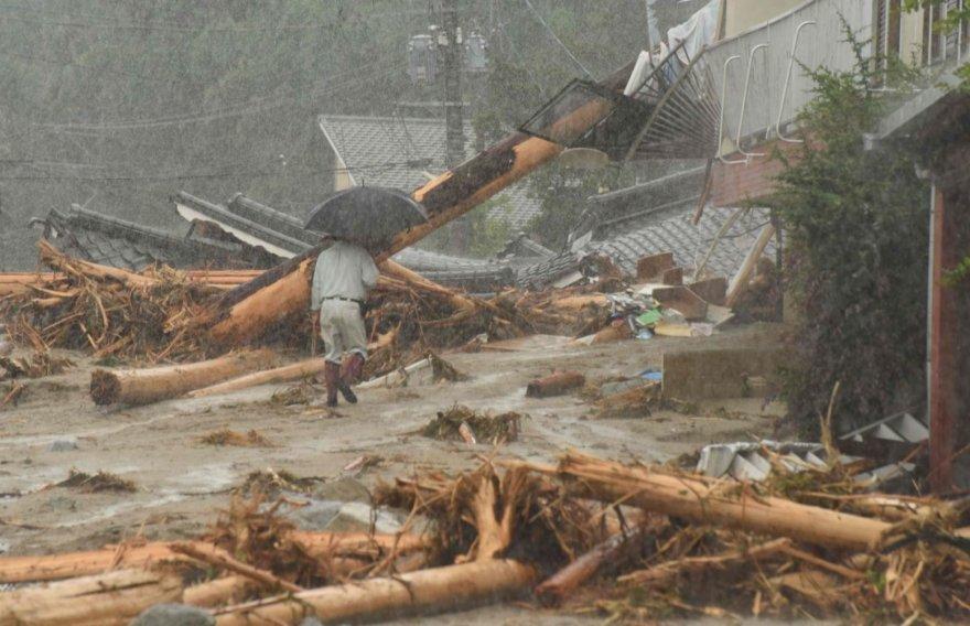Potvynio padariniai Japonijoje