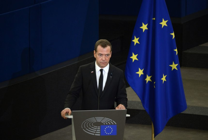Dmitrijus Medvedevas Helmuto Kohlio laidotuvėse