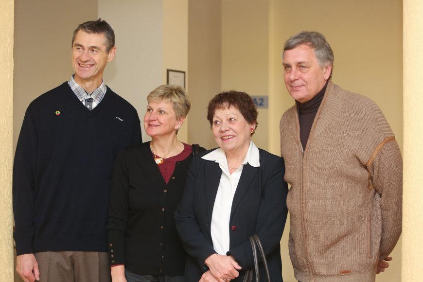 Romas Ubartas, Lina Kačiušytė, Angelė Rupšienė ir Robertas Žulpa