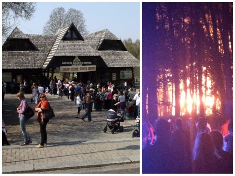 Lietuvos liaudies buities muziejų Rumšiškėse niokojo gaisras