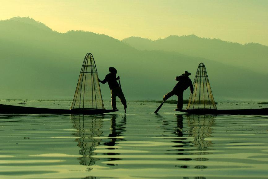 Mianmare plytintis Inlės ežeras