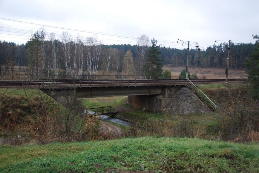 Toks vaizdas į geležinkelio tiltą per Bražuolės upę veriasi iš sodybos, kurioje gyveno traukinių gelbėtoja A.Juozapavičienė.