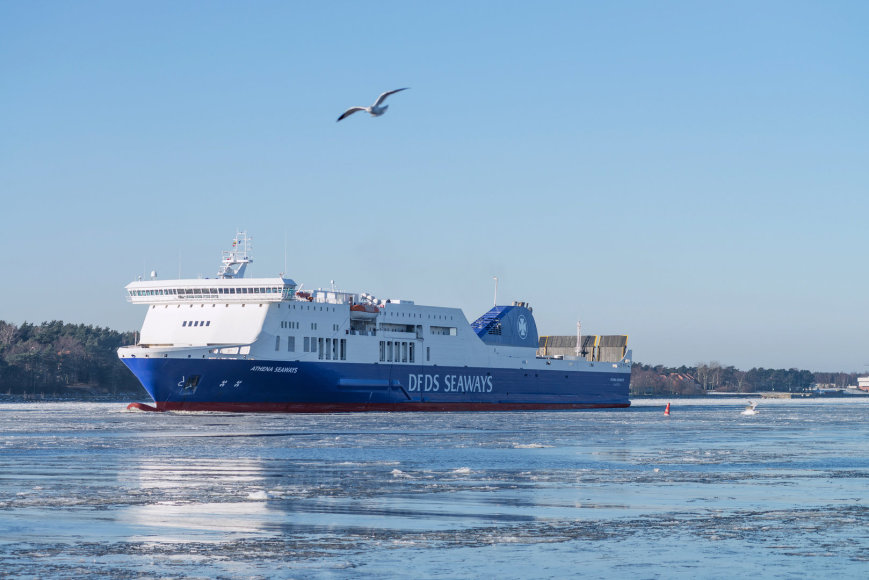 "Keltas ""Athena Seaways"" / ""DFDS"" archyvo nuotr."