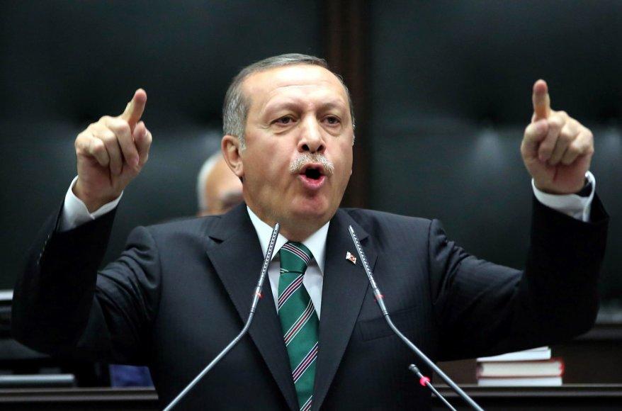 Turkijos premjeras Recepas Tayyipas Erdoganas