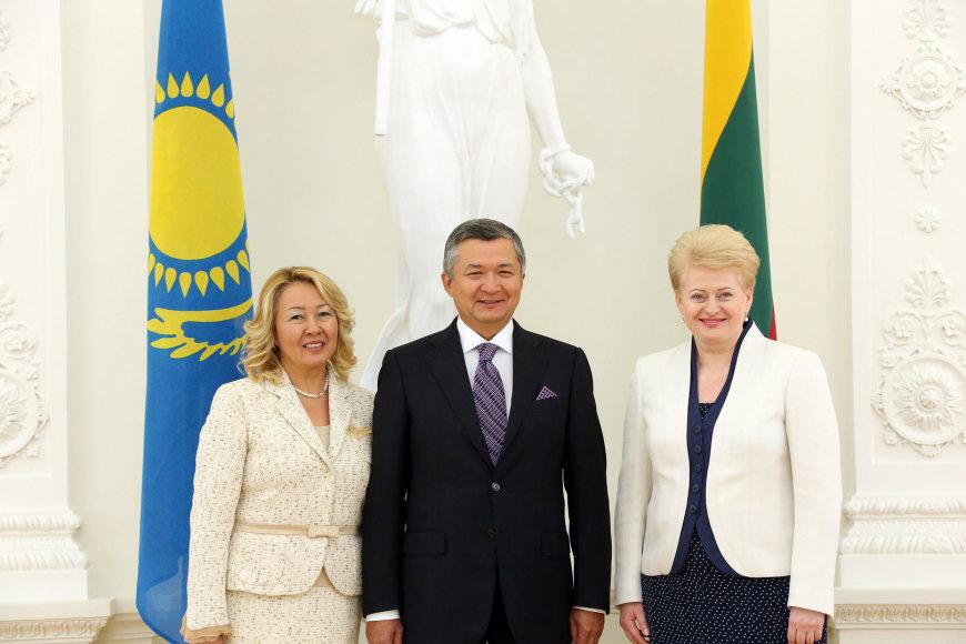 Bauržanas Muchamedžanovas ir Dalia Grybauskaitė