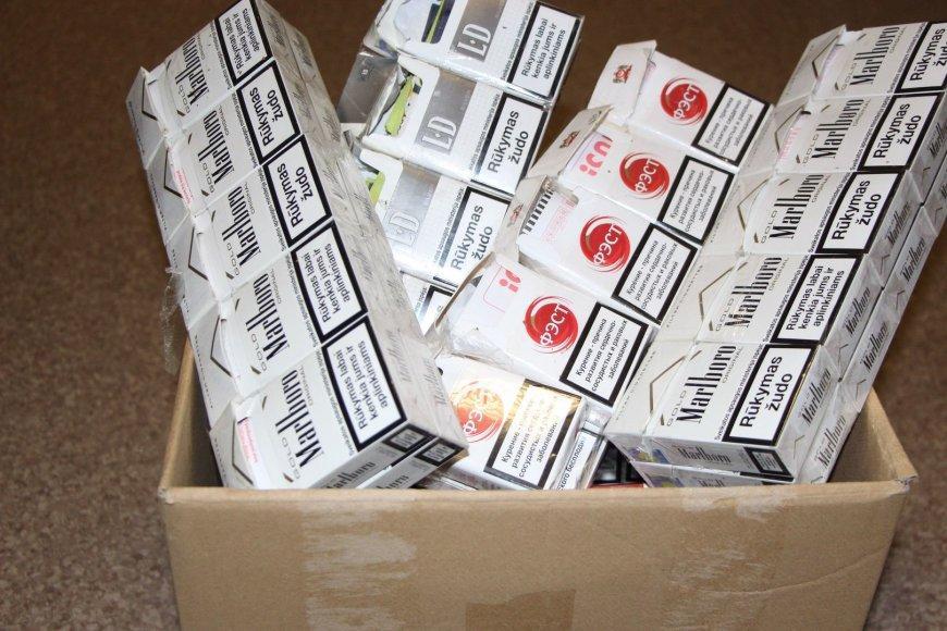 Suklastotos kontrabandinės cigaretės